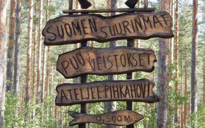 Suomen suurimmat puuveistokset löytyvät Kouvolasta